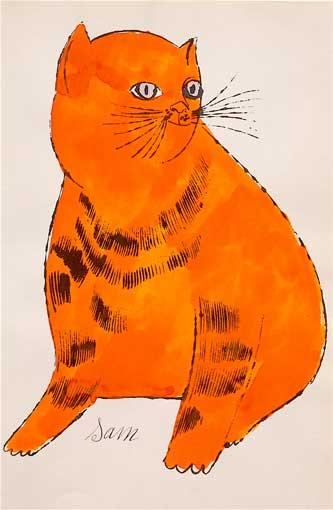 Pomarańczowy kot Sam