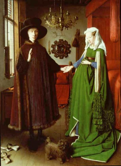 Jan van Eyck- Portret małżonków Arnolfinich