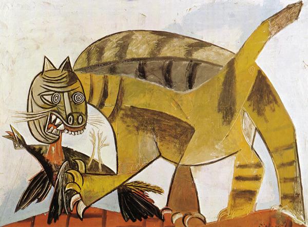 Kot pożerający ptaka (1939)