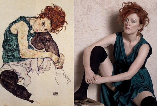 Egon Schiele- Seated Woman with Bent Knee 1917