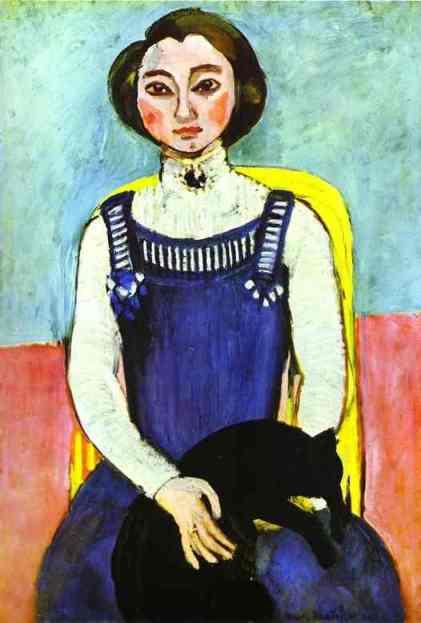 Dziewczyna z czarnym kotem (1910)