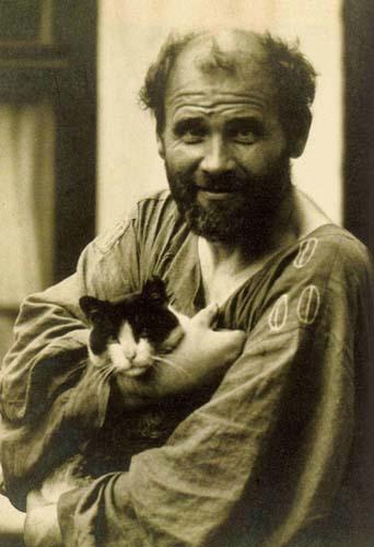 malarz z kotem