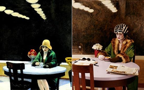 Edward Hopper- The Automat- 1927/ Zdjęcie: Joel Peter Witkin