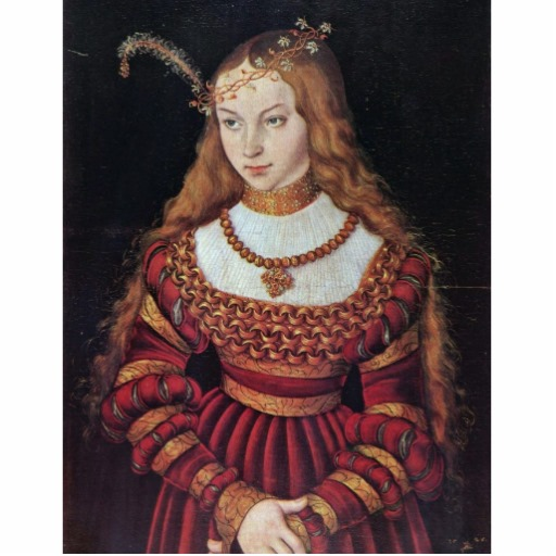 Sybille, Princess of Cleves. Lucas Cranach the Elder