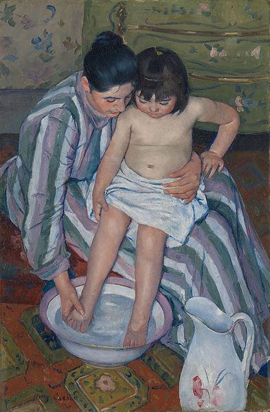 Kąpiel dziecka (1893 r.)