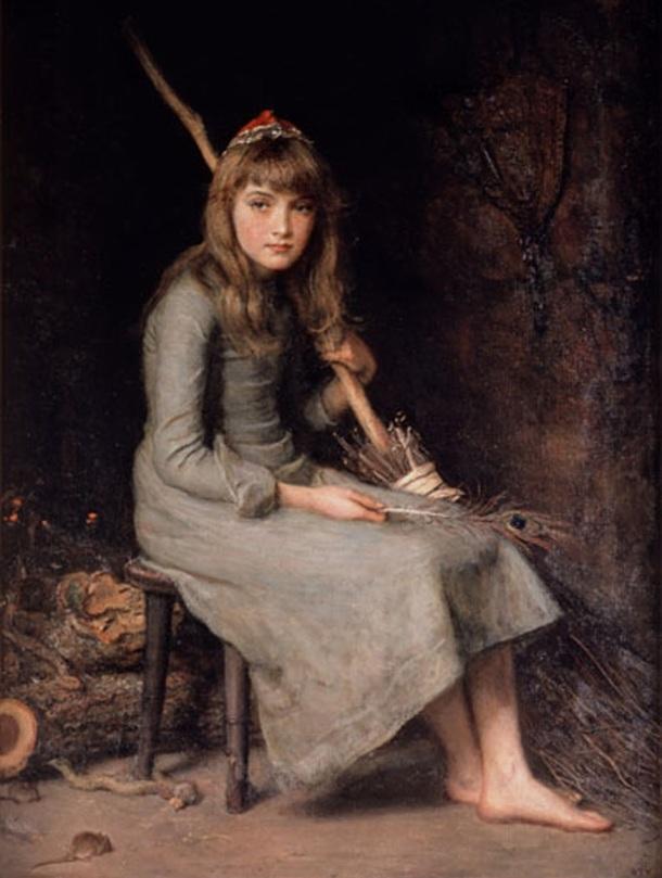 1870_Millais, Cinderella 1870s