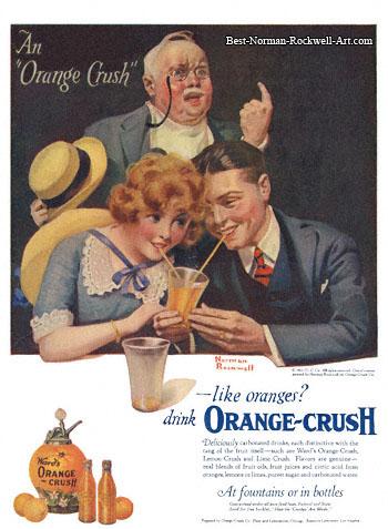 1921-Norman-Rockwell-Crush-advertisement-Orange-Crush-An-Orange-Crush-350-Digimarc
