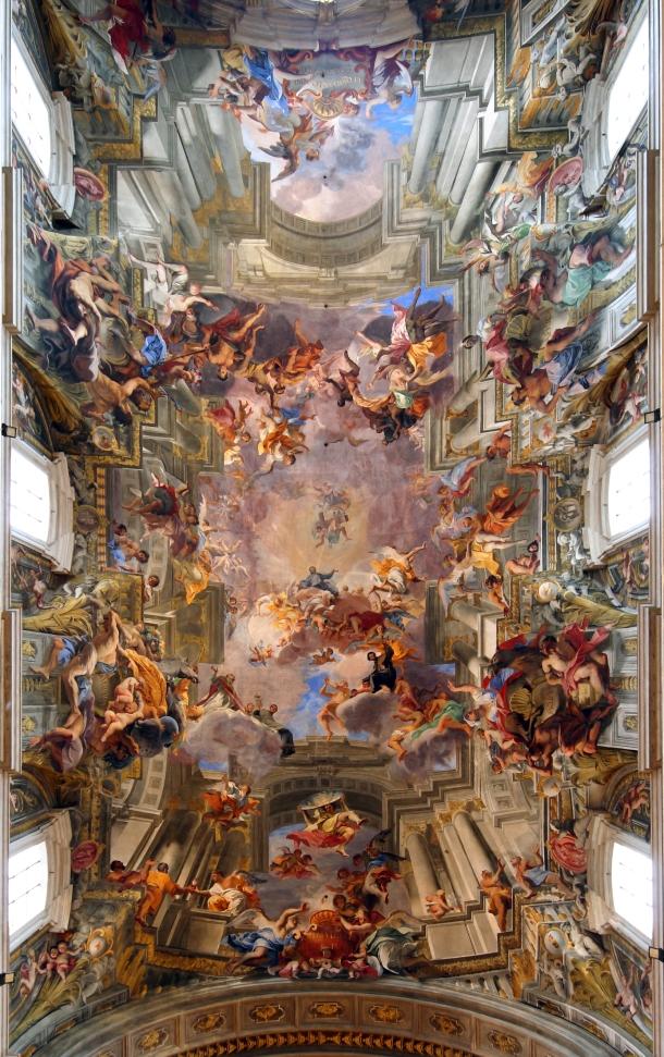 Andrea Pozzo: kościół św. Ignacego Loyoli w Rzymie; Apoteoza św. Ignacego