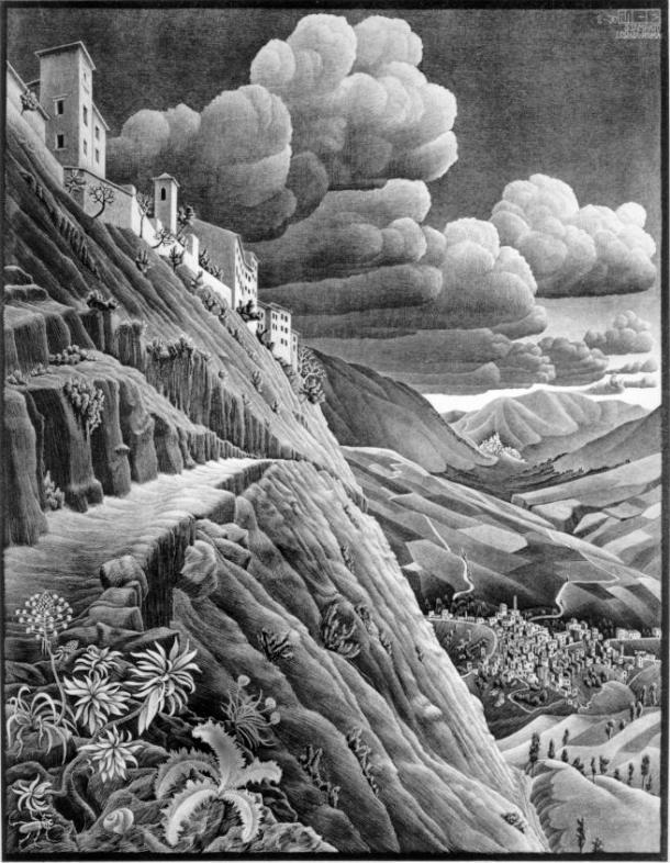 Castrovalva 1930 Lithograph