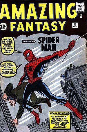 spiderman 1962 Amazing_Fantasy_15