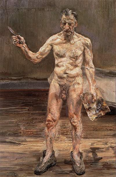 """Self nude"", L. Freud"