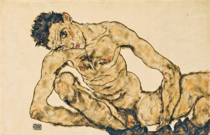 """Self nude"" (1916), E. Schiele"