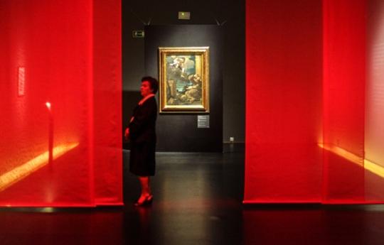 przygotowania do otwarcia wystawy