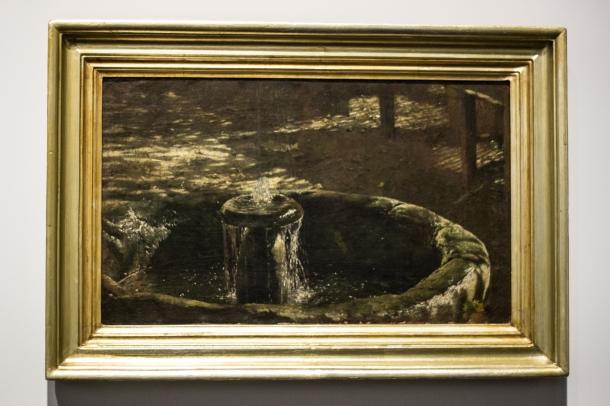 Fontanna - studium do obrazu w altanie 1886