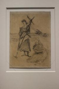 Skic do obrazu Anioł Pański 1889
