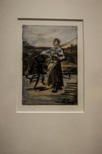 Szkic obrazu Anioł Pański 1889