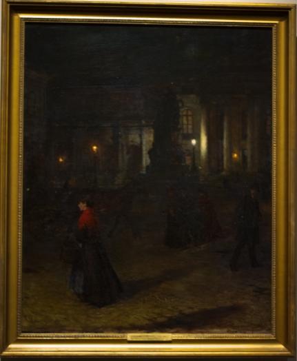 Plac Maksymiliana Józefa w nocy- 1890