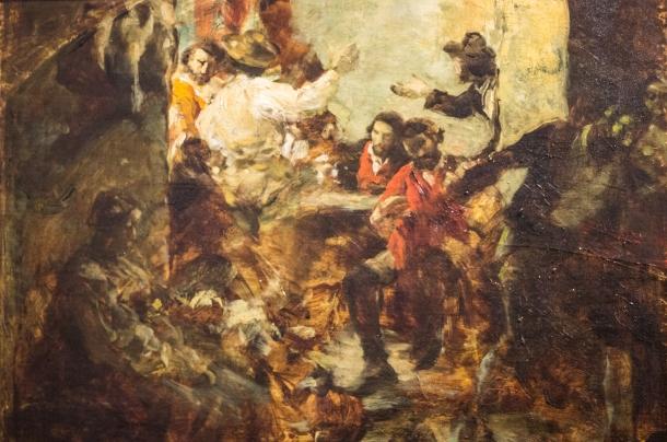 Austeria rzymska - szkic olejny