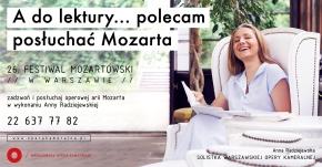 """""""Polecam posłuchać Mozarta"""""""
