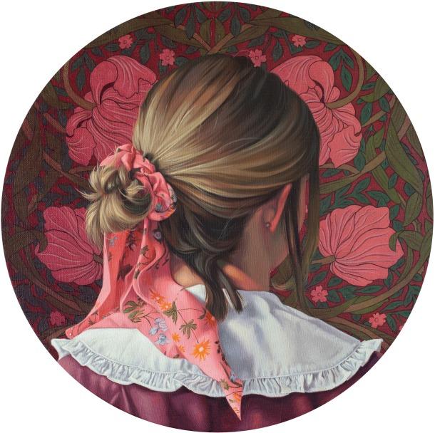 różowa wstążka (pimpernel), 40 cm średnicy, 2021